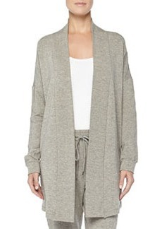 West Broadway French Terry Open-Front Cardigan, Griege Melange   West Broadway French Terry Open-Front Cardigan, Griege Melange