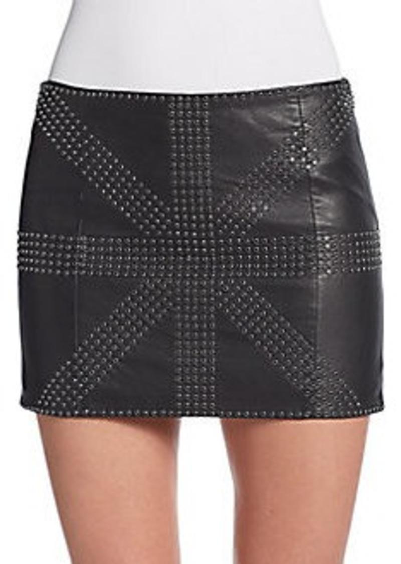 haute hippie haute hippie embellished leather mini skirt