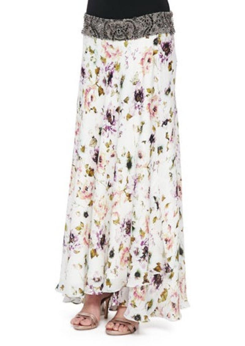haute hippie haute hippie floral print maxi skirt with
