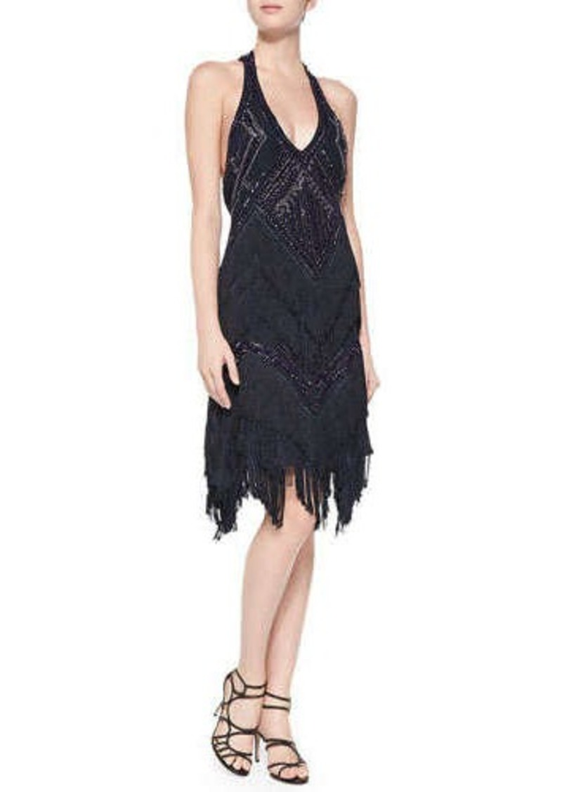 Haute hippie haute hippie sleeveless beaded fringe t back for To have and to haute dress