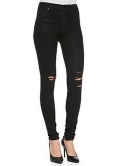 Barbara Distressed Stretch Skinny Jeans, Waxed Skylark   Barbara Distressed Stretch Skinny Jeans, Waxed Skylark