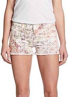 Hudson Amber Raw Edge Denim Shorts