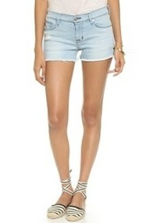 Hudson Amber Raw Edge Hem Shorts