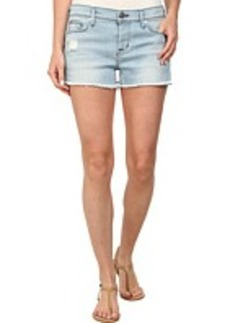 Hudson Amber Raw Edge Shorts in Strata