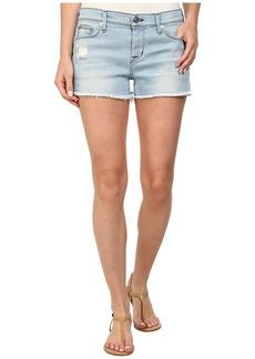 Hudson Amber Raw Edge Shorts in Strata