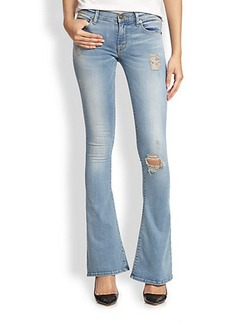 Hudson Angel Distressed Flared Jeans