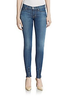 Hudson Ankle-Zip Skinny Jeans