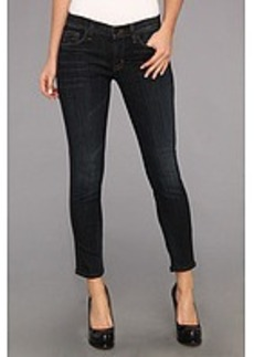 Hudson Ava Crop Skinny w/ Perforated Leather in Shirley