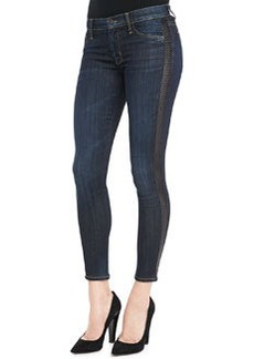 Hudson Ava Shirley Leather-Side Skinny Jeans