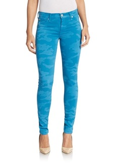 Hudson Camo-Print Skinny Jeans