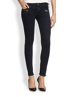 Hudson Chimera Zip-Pocket Skinny Jeans