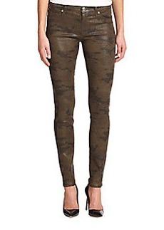 Hudson Coated Camouflage Super Skinny Jeans