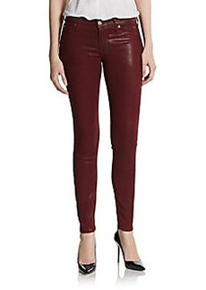 Hudson Coated Mid-Rise Super Skinny Jeans