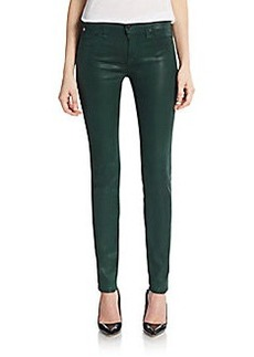 Hudson Coated Mid-Rise Super-Skinny Jeans