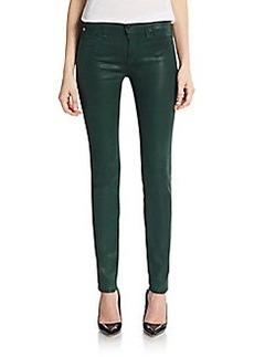 Hudson Coated Mid-Rise Super-Skinny Jeans