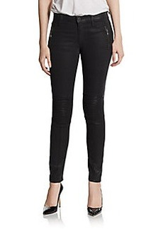 Hudson Coated Super Skinny Moto Jeans
