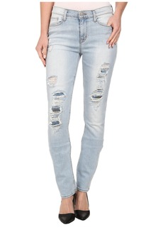 Hudson Custom Shine Mid Rise Skinny Jeans in Alley Cat