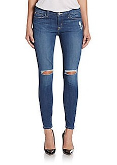 Hudson Distressed Ankle Super-Skinny Jeans