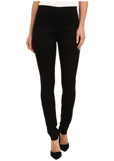 Hudson Evelyn High Rise Super Skinny Sateen in Black Knight