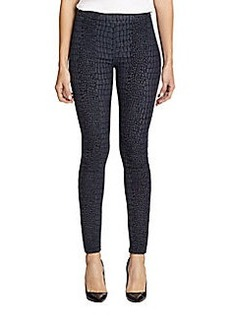 Hudson Evelyn Super Skinny Snake-Print Jacquard Leggings
