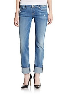 Hudson Ginny Cuffed Cropped Straight Leg Jeans