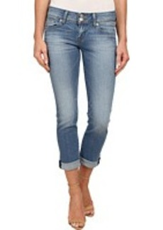 Hudson Ginny Straight Ankle Jeans w/ Cuff in Hot Springs