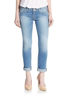 Hudson Ginny Straight Leg Cuffed Ankle Jeans