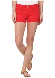 Hudson Hampton Cuffed Shorts in Larkspur Red