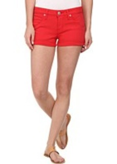 Hudson Hampton Cuffed Shorts in Larkspur Red