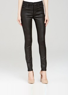 Hudson Jeans - Barbara High Rise Super Skinny in Black Wax