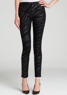 Hudson Jeans - Bloomingdale's Exclusive Barbara High Waist Super Skinny in Black Foil Zebra