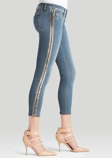Hudson Jeans - Luna Embellished Crop Super Skinny in Unfiltered