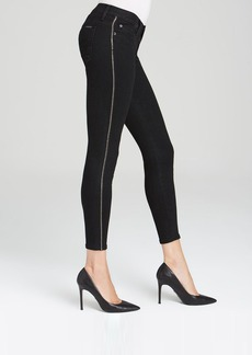 Hudson Jeans - Luna Skinny Embellished Crop in Black