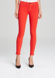 Hudson Jeans - Nico Mid Rise Super Skinny in Infrared