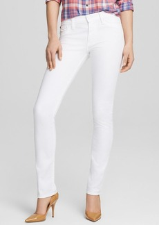Hudson Jeans - Shine Mid Rise Skinny in White