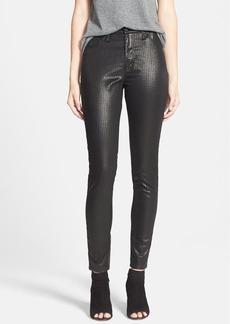 Hudson Jeans 'Barbara' High Rise Foil Print Houndstooth Skinny Pants