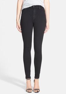 Hudson Jeans 'Barbara' Skinny Jeans (Black)