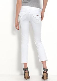 Hudson Jeans 'Beth' Crop Stretch Denim Jeans (White Wash)