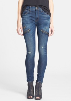 Hudson Jeans 'Catalyst' Zip Detail Skinny Jeans (Cruel)