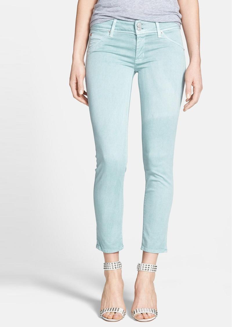 Hudson Jeans 'Collin' Crop Skinny Jeans (Dusty Pistachio)