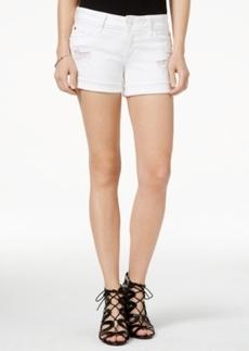 Hudson Jeans Croxley Ripped White Wash Denim Shorts