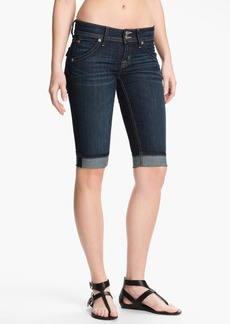 Hudson Jeans Cuff Stretch Denim Bermuda Shorts (Stella)