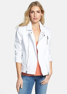 Hudson Jeans 'Cynic' Denim Moto Jacket (White)