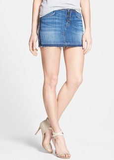 Hudson Jeans 'Debbie' Denim Miniskirt (Turn the Tides)