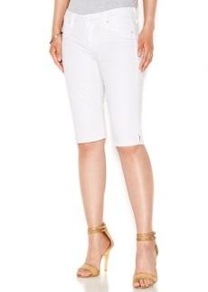 Hudson Jeans Denim Bermuda Shorts, White Wash