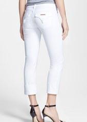 Hudson Jeans 'Ginny Crop' Stretch Skinny Jeans (White)