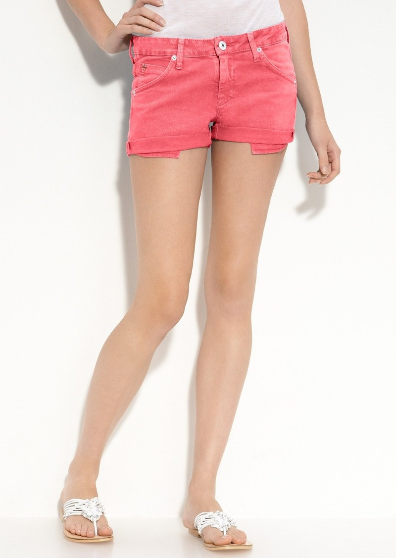 Hudson Jeans 'Hampton' Cuff Jean Shorts (Red 3)