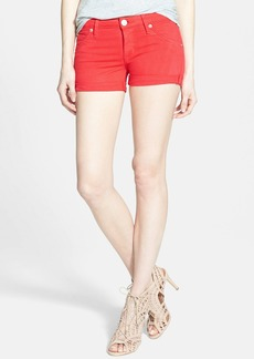 Hudson Jeans 'Hampton' Cuffed Denim Shorts (Larkspur Red)