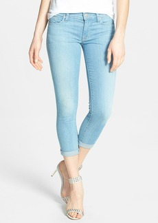 Hudson Jeans 'Harkin' Rolled Crop Skinny Jeans (Footprints)