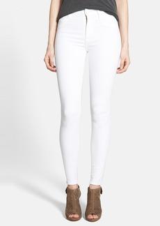 Hudson Jeans High Waist Skinny Jeans (White)